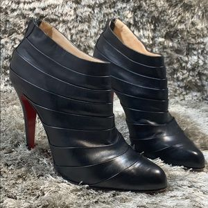 Christian Louboutin pleated booties 8.5 /run small
